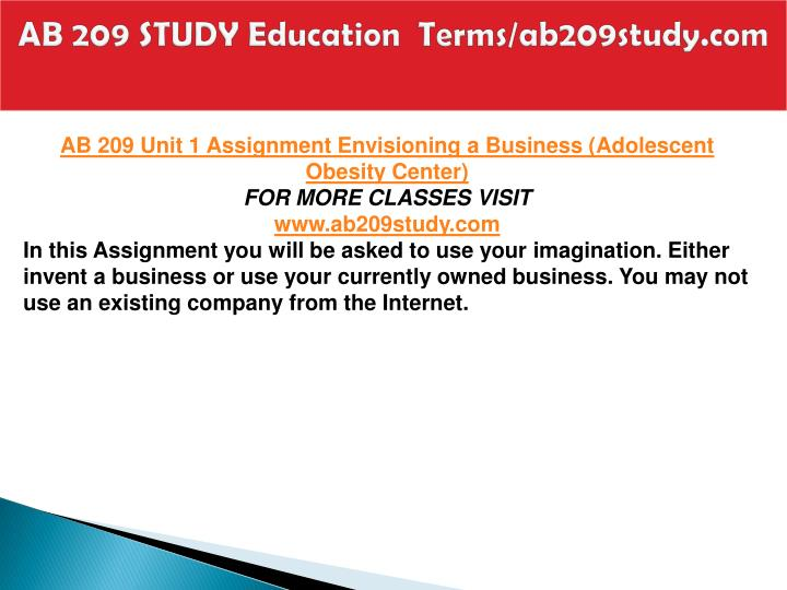 Ab 209 study education terms ab209study com2