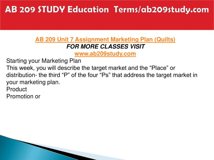 AB 209 STUDY Education  Terms/ab209study.com