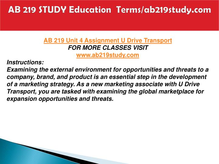 AB 219 STUDY Education  Terms/ab219study.com