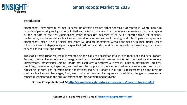 Smart Robots Market to 2025
