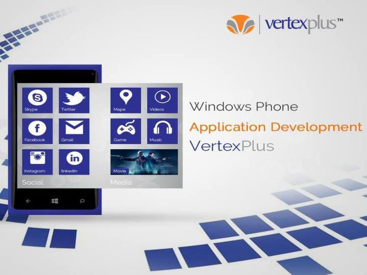 Windows phone application development at vertexplus