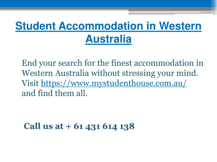 Student Accommodation in Western Australia