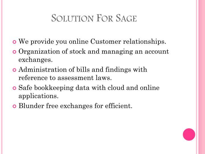 Solution For Sage