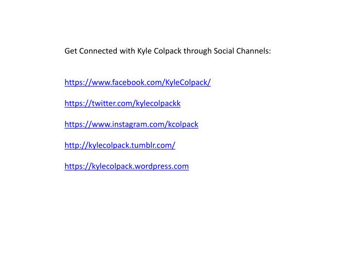 Get Connected with Kyle