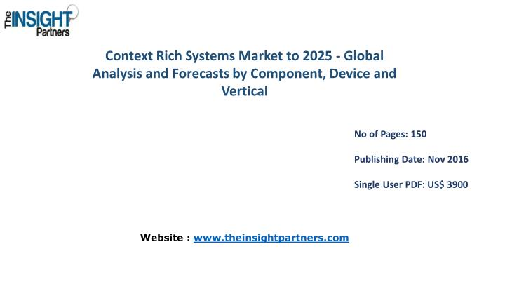 Context Rich Systems Market to 2025 - Global
