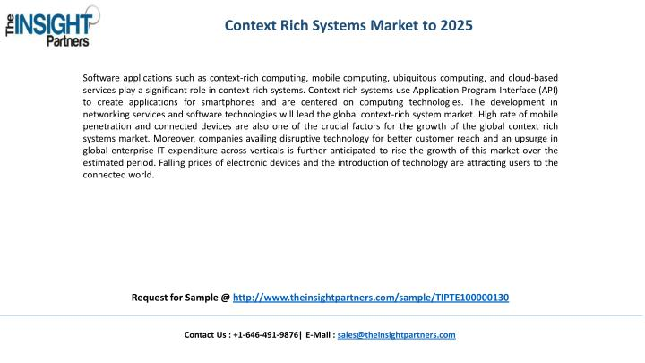 Context Rich Systems Market to 2025