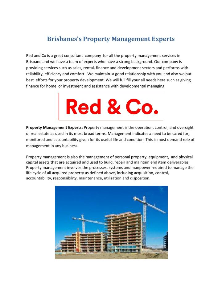 Brisbanes's Property Management Experts