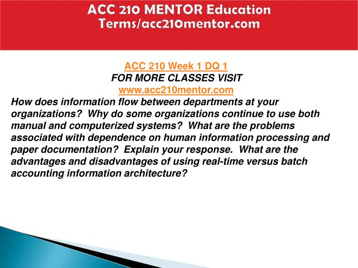 Acc 210 mentor education terms acc210mentor com1