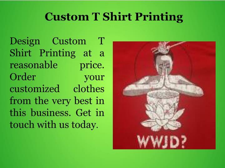 Custom T Shirt Printing