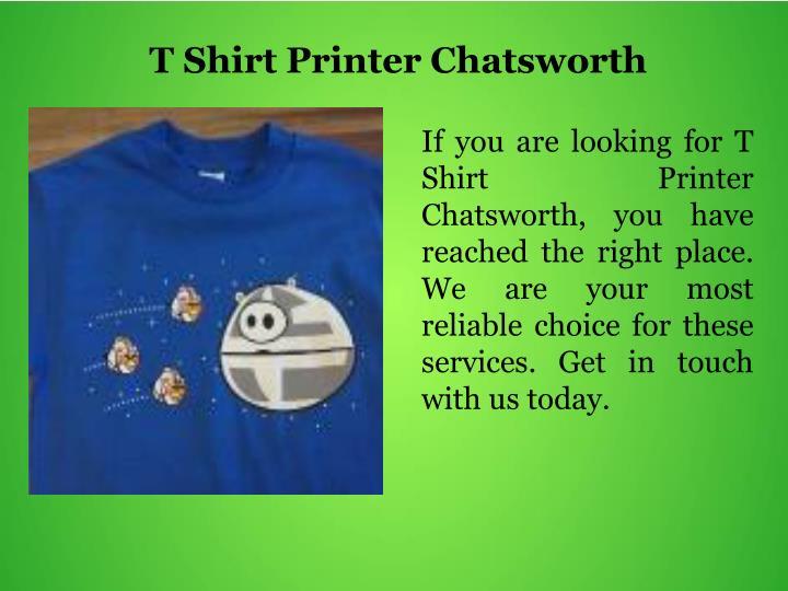 T Shirt Printer Chatsworth