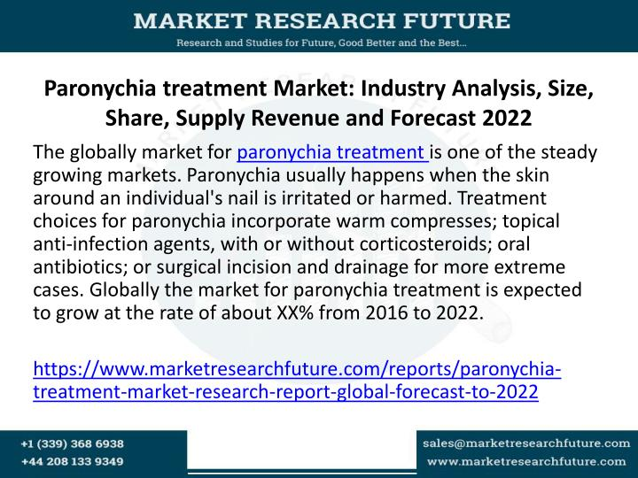 Paronychia treatment market industry analysis size share supply revenue and forecast 2022