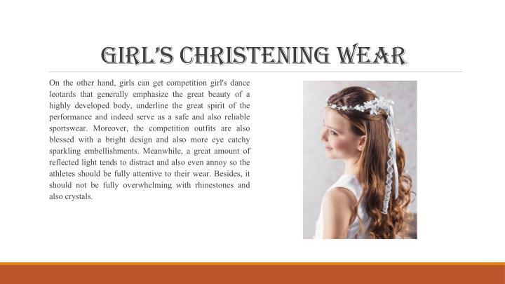 Girl's christeninG