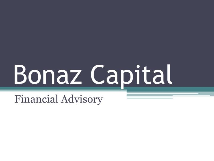 Bonaz capital