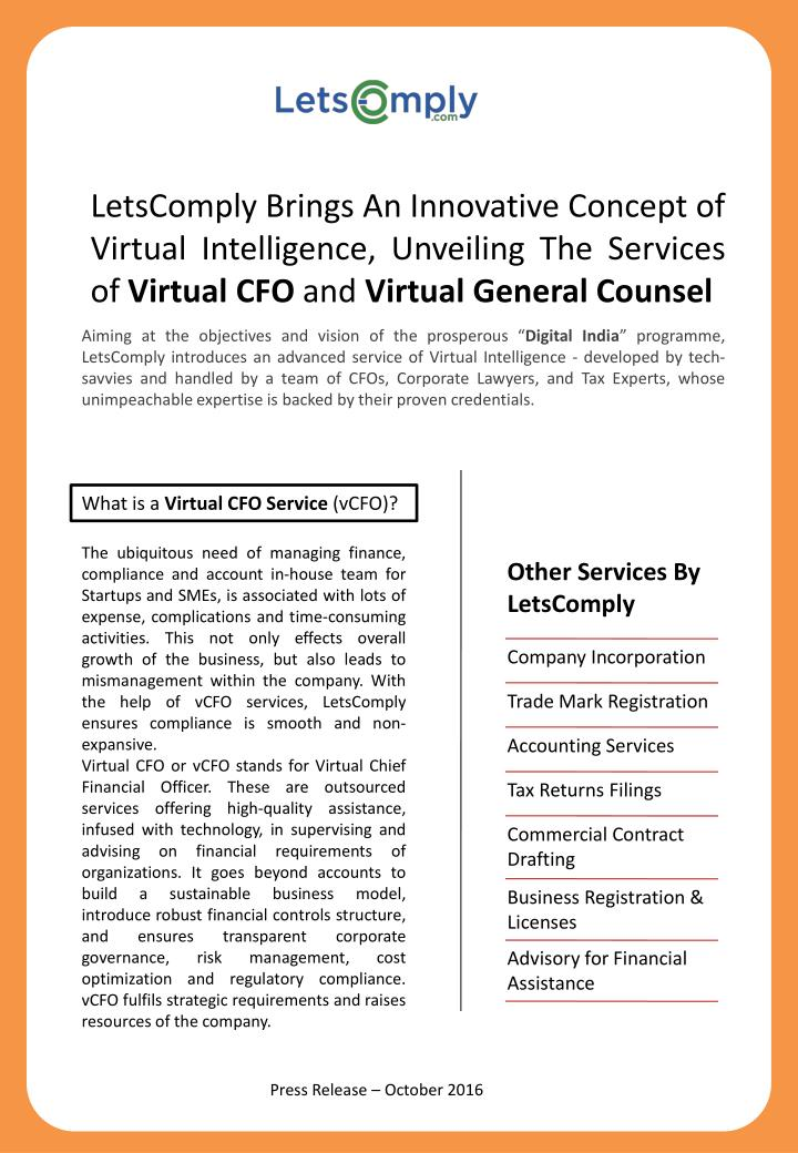 LetsComply Brings An Innovative Concept of Virtual Intelligence, Unveiling The Services of