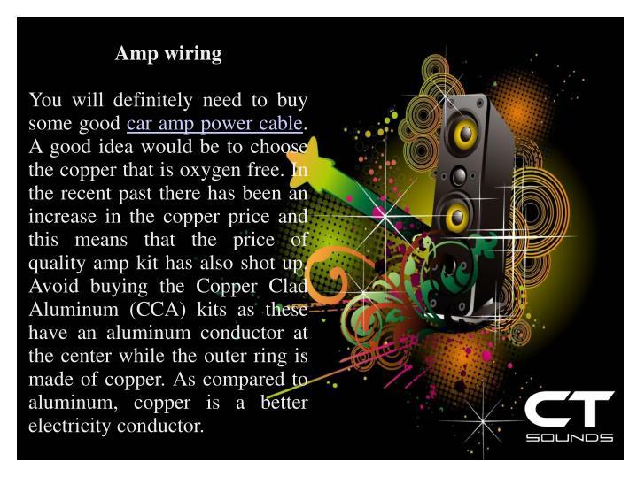 Amp wiring