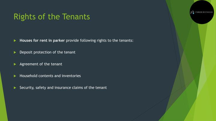 Rights of the Tenants