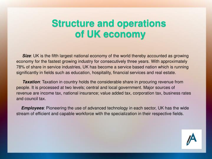 Structure and operations of uk economy