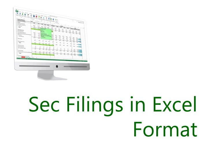 Sec filings in excel format