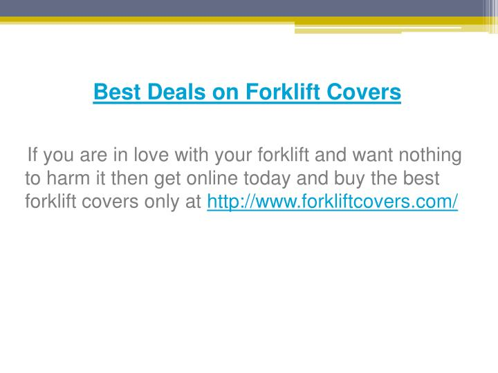 Best Deals on Forklift Covers