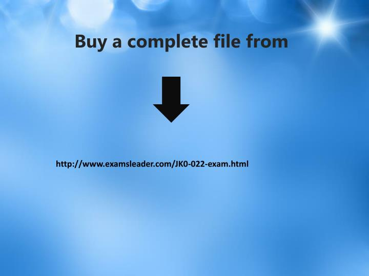 Buy a complete file from