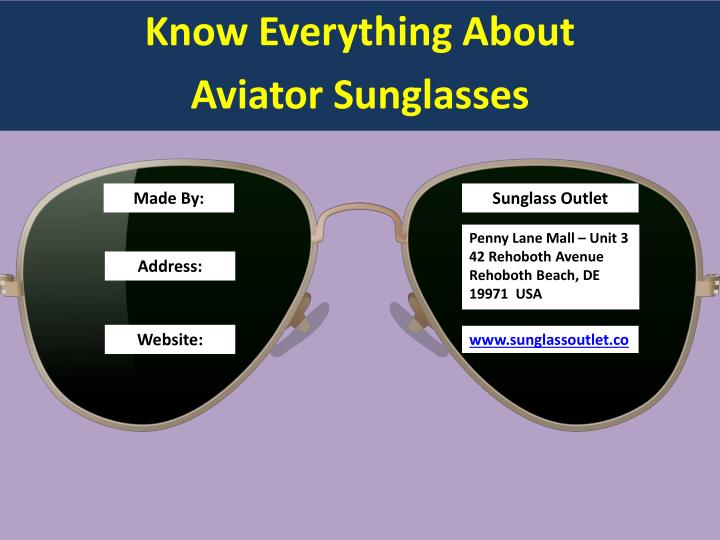 Know everything about aviator sunglasses