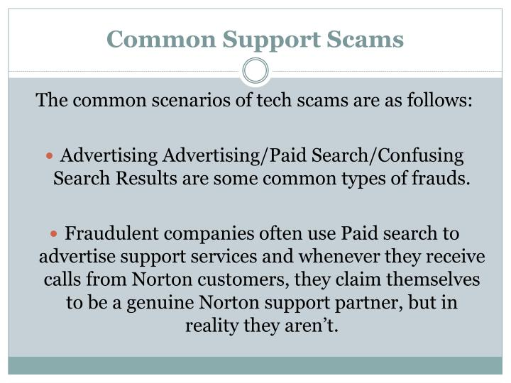 Common Support Scams