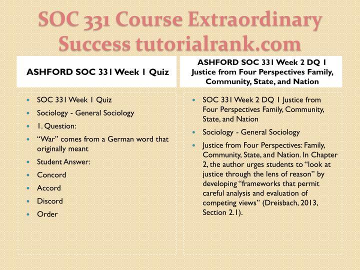 ASHFORD SOC 331 Week 1 Quiz