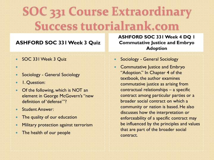 ASHFORD SOC 331 Week 3 Quiz