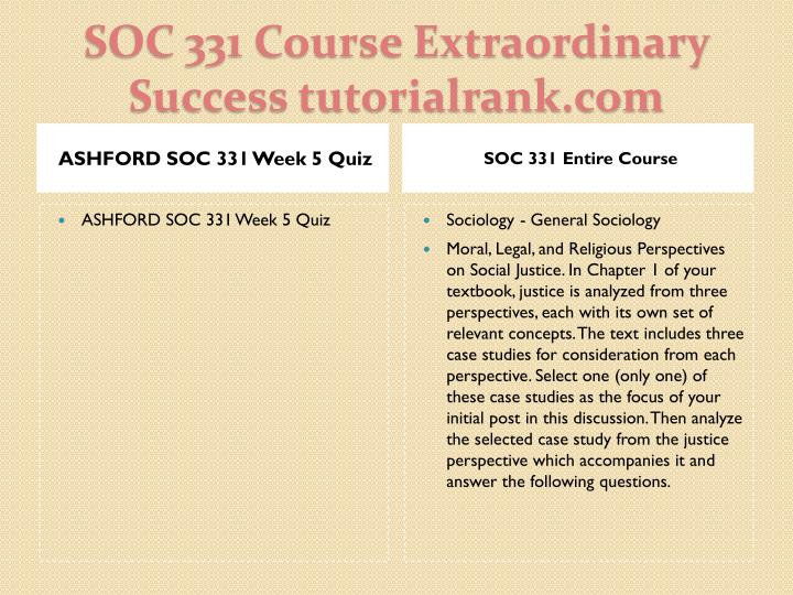 ASHFORD SOC 331 Week 5 Quiz