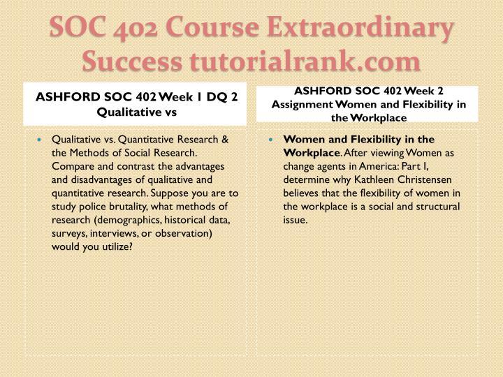 ASHFORD SOC 402 Week 1 DQ 2 Qualitative vs