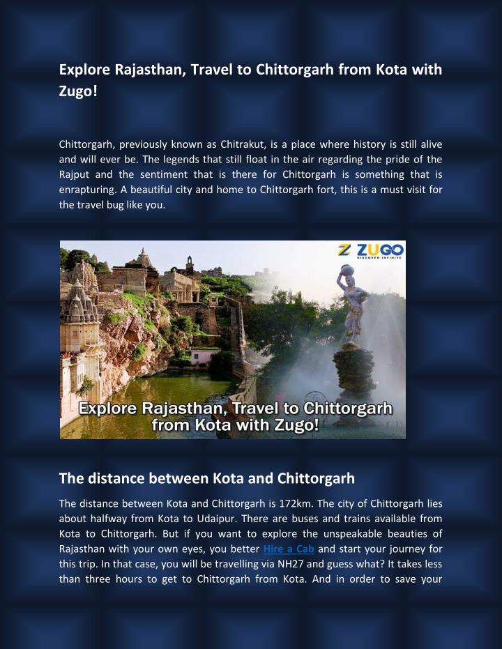 Explore Rajasthan, Travel to Chittorgarh from Kota with