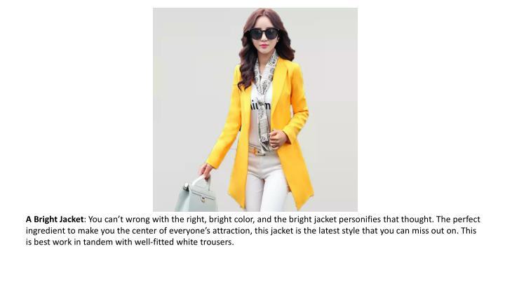A Bright Jacket