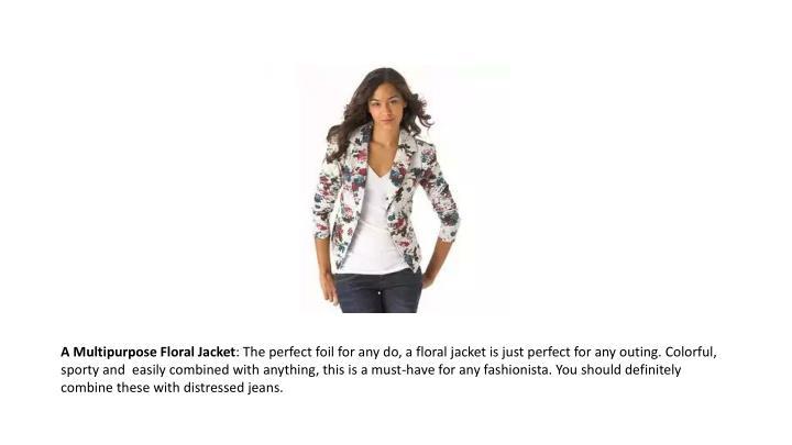 A Multipurpose Floral Jacket