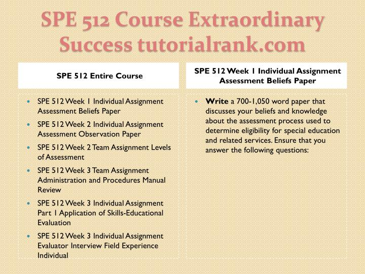Spe 512 course extraordinary success tutorialrank com1