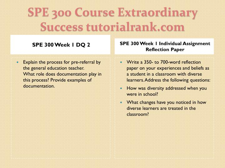 Spe 300 course extraordinary success tutorialrank com2