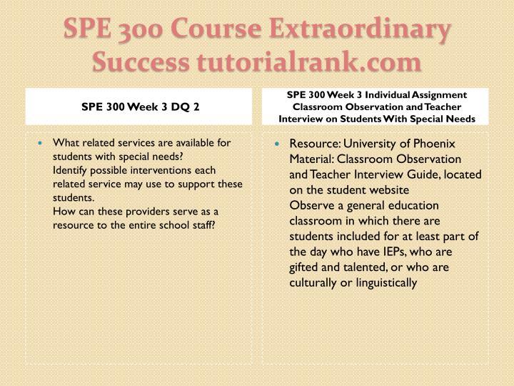SPE 300 Week 3 DQ 2