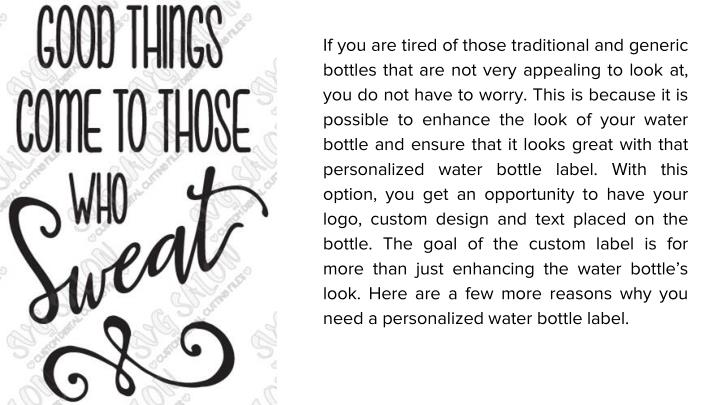 If you are tired of those traditional and generic bottles that are not very appealing to look at, yo...