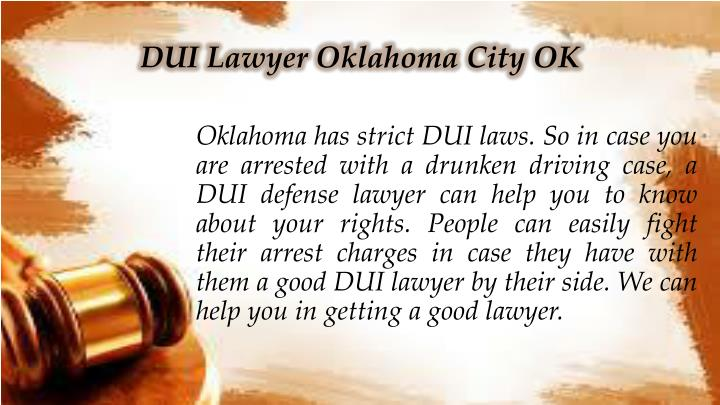 DUI Lawyer Oklahoma City OK