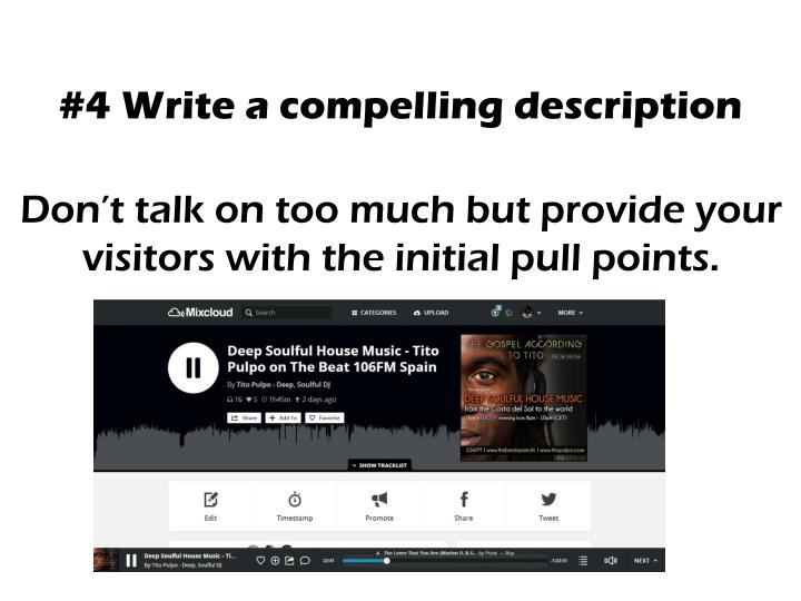 #4 Write a compelling description