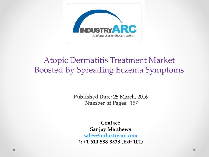 Atopic Dermatitis Treatment Market