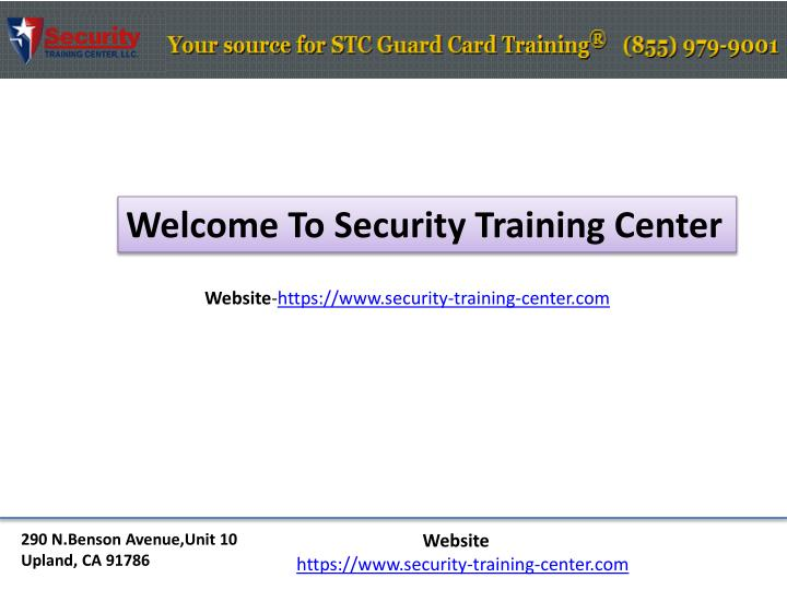 Welcome To Security Training Center