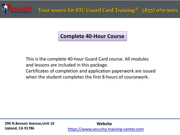 Complete 40-Hour Course