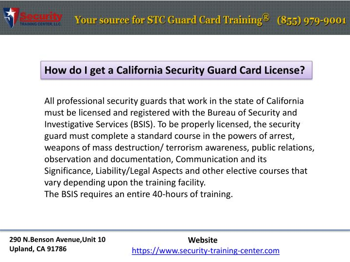 How do I get a California Security Guard Card License?