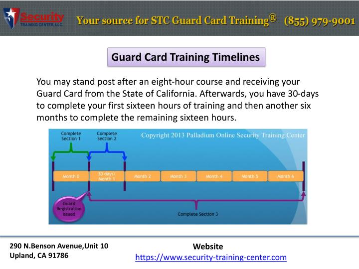 Guard Card Training Timelines