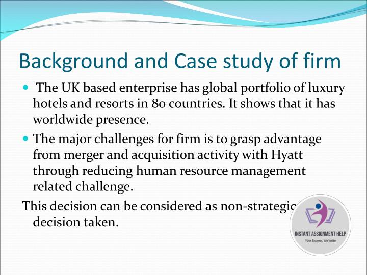 Background and Case study of firm