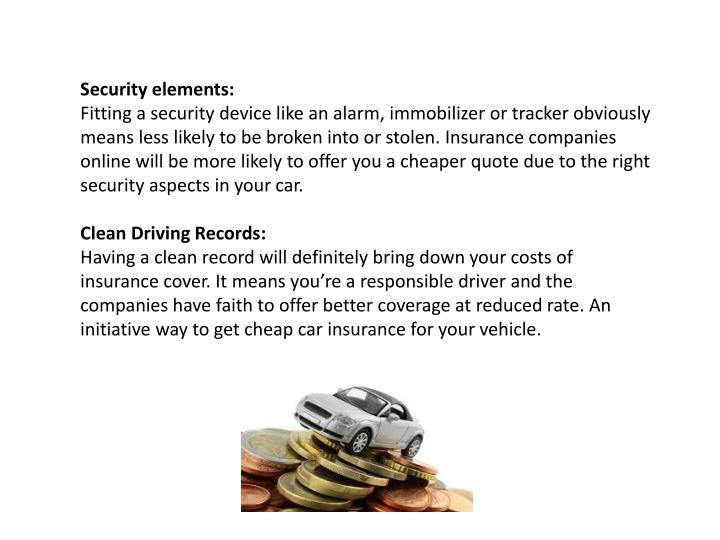 Security elements: