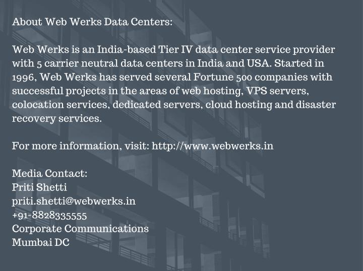 About Web Werks Data Centers: