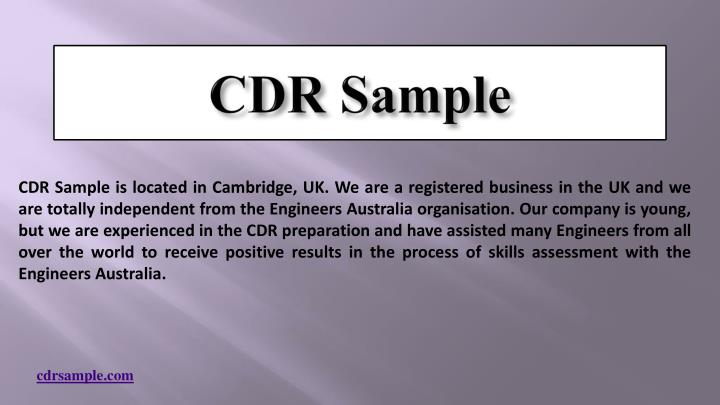 Cdr sample