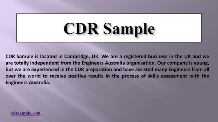 CDR Sample