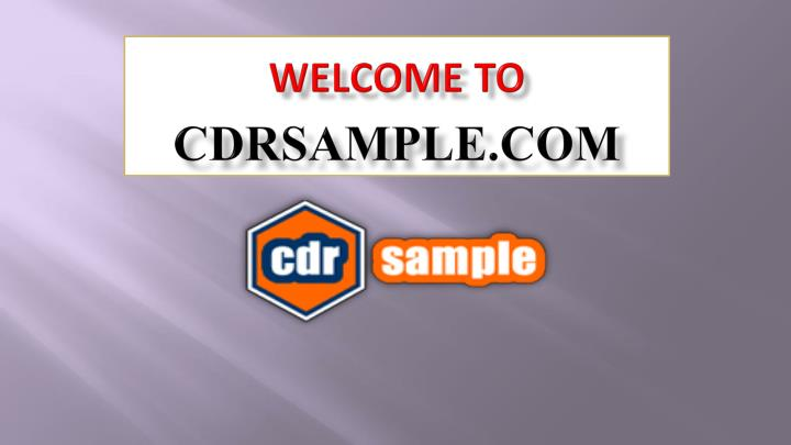 Welcome to cdrsample com